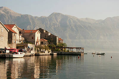 Photograph - Perast Restaurant by Phyllis Peterson