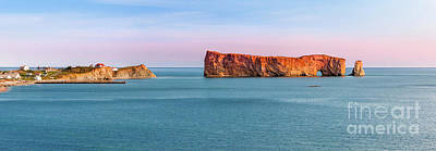 Photograph - Perce Rock Panorama At Sunset by Elena Elisseeva