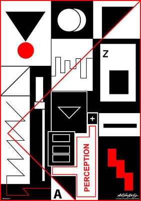 Perception II - Text Art Print by Asbjorn Lonvig