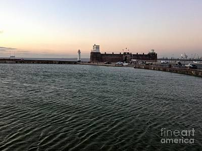 Photograph - Perch Rock At Dusk by Joan-Violet Stretch