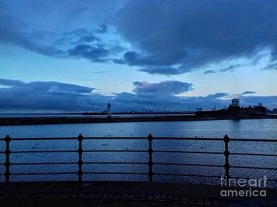 Photograph - Perch Rock Lighthouse And Fort In Blue by Joan-Violet Stretch
