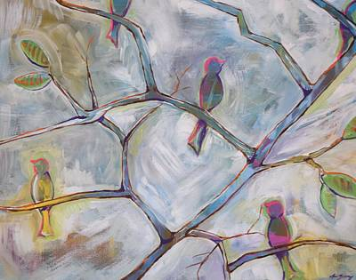 Abstract Realism Painting - Perched by Anne Seay