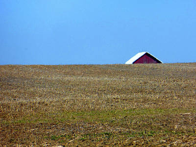 Photograph - Perched Barn by Tina M Wenger