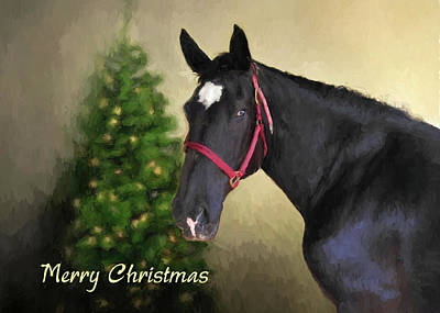 Digital Art - Percheron At Christmas by Jayne Wilson