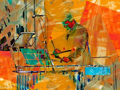 Xylophone Digital Art - Percussionist by Dorothy Berry-Lound