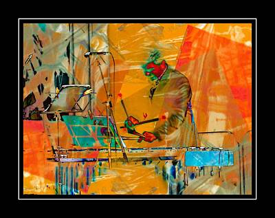 Photograph - Percussionist With Black Border by Dorothy Berry-Lound