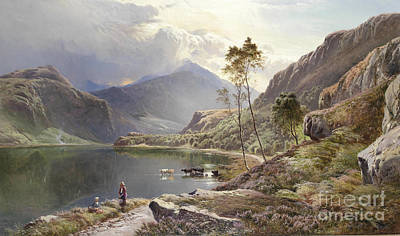 North Wales Painting - Percy Llyn Ddinas North Wales by MotionAge Designs