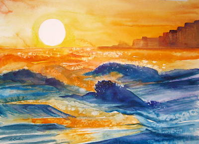 Perdido Key Sunset Art Print by L Lauter
