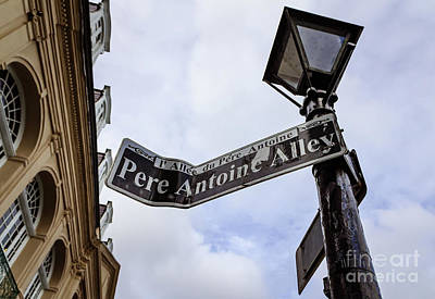 Photograph - Pere Antoine Alley Sign-nola by Kathleen K Parker
