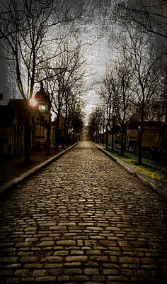 Photograph - Pere Lachaise Cemetery Road 2 by Katie Wing Vigil