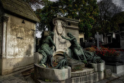 Photograph - Pere Lachaise Tomb by Ingrid Dendievel