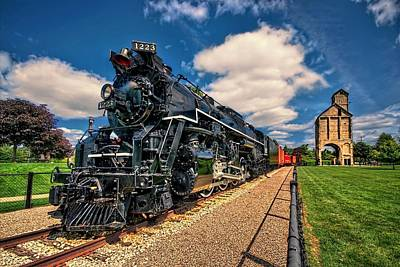 Photograph - Pere Marquette 1223 Locomotive With Coal Tower by Jeff S PhotoArt