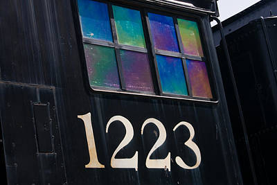 Abstract Photograph - Pere Marquette Locomotive 1223 by Adam Romanowicz