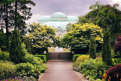 Walkway Digital Art - Perennial Garden Allee by Jessica Jenney
