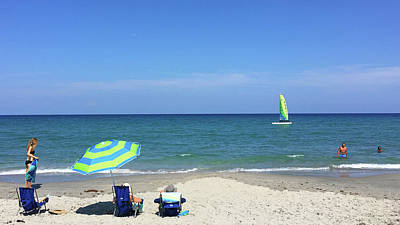 Photograph - Perfect Beach Day Delray Beach Florida by Lawrence S Richardson Jr