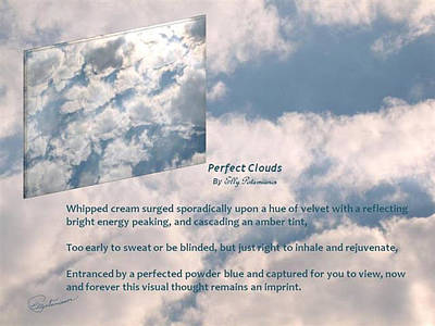 Photograph - Perfect Clouds by Elly Potamianos