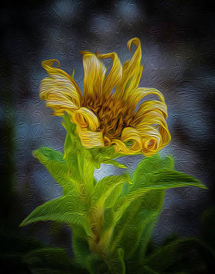 Painting - Perfect Curls In Gold by Michael Gross