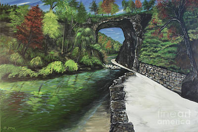 Perfect Fall Day At Natural Bridge Virginia Art Print by Katie Adkins