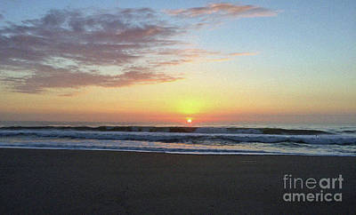 Photograph - Perfect Jersey Shore Sunrise by Mary Haber