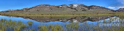 Photograph - Perfect Panoramic Reflections At Slough Creek by Adam Jewell