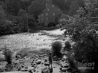 Photograph - Perfect Place For Quiet - Black  White by Jacqueline M Lewis