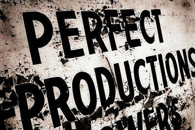 Photograph - Perfect Productions by Gray  Artus