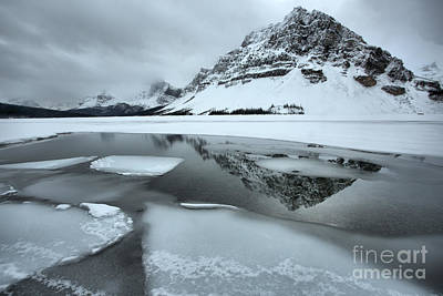 Photograph - Perfect Reflections In The Icy Waters Of Bow by Adam Jewell