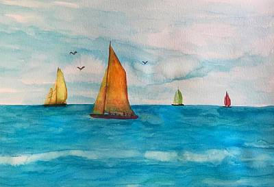 Painting - Perfect Sailing Day by Anne Sands