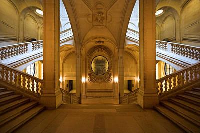 Photograph - Perfect Symmetry At The Louvre Museum Paris by Pierre Leclerc Photography