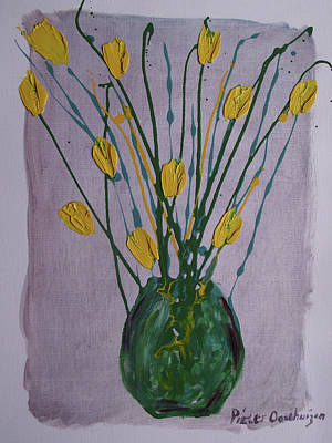 Knifework Painting - Perfect Tulips by Pieter Oosthuizen