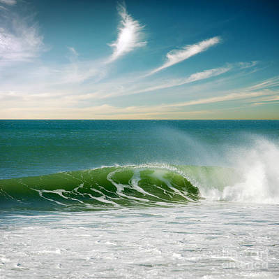 Wind Photograph - Perfect Wave by Carlos Caetano