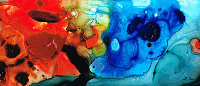 Modern Abstract Painting - Perfect Whole And Complete By Sharon Cummings by Sharon Cummings