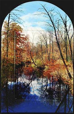 Connecticut Landscape Mixed Media - Perfection Arched Top by Michael Albin