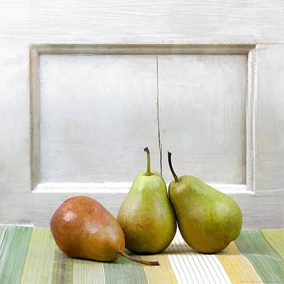 Pyrus Communis Photograph - Perfectly Peared by Chrystyne Novack