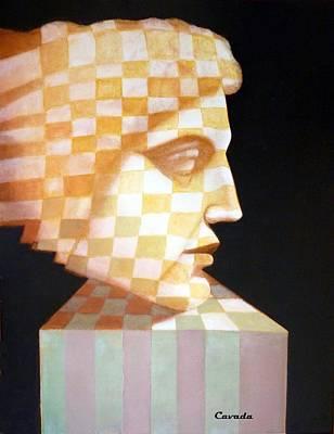 Mosaico Painting - Perfil Mosaico by Carlos Patricio Valdes Cavada