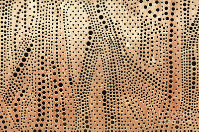 Perforated Metal Sheet Art Print by Sophie McAulay