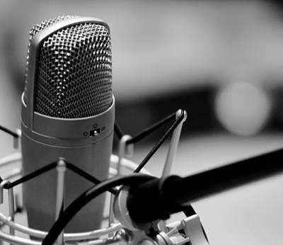 Performance Microphone Art Print