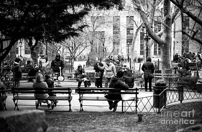 Photograph - Performing In Columbus Park by John Rizzuto