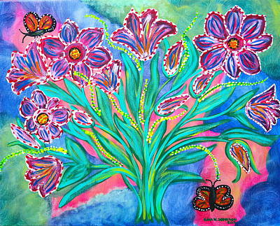 Painting - Perfume Of Flowers by Gina Nicolae Johnson