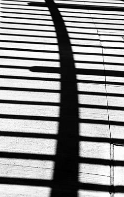 Photograph - Pergola Shadow by Mary Bedy