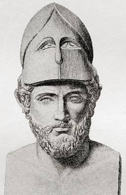 Pericles, C. 495 To 429 Bc. Greek Art Print by Vintage Design Pics