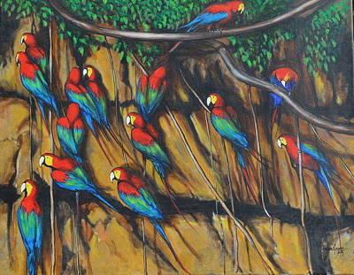 Painting - Pericos by Jorge Parellada