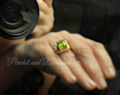 Photograph - Peridot And Diamonds by Diana Angstadt