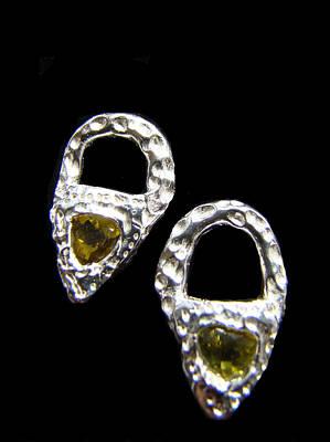 Jewelry - Peridot Door Knocker Earrings by Kimberly Clark - Dragonfly Studios