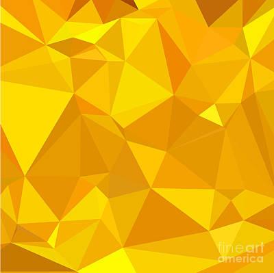 Peridot Digital Art - Peridot Yellow Abstract Low Polygon Background by Aloysius Patrimonio