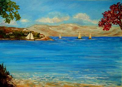 Lefkada Painting - Perigiali  by Konstantinos Charalampopoulos