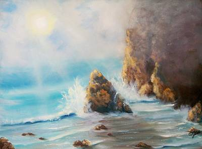 Painting - Perilous Shore by Joni McPherson