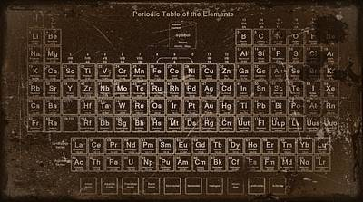 Digital Art - Periodic Table Of Elements by Joseph Hawkins