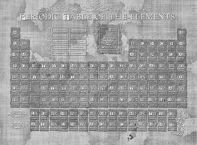 Digital Art - Periodic Table Of The Elements Vintage 3 by Bekim Art