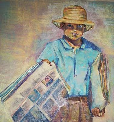 Periodiquero Art Print by Diana Moya
